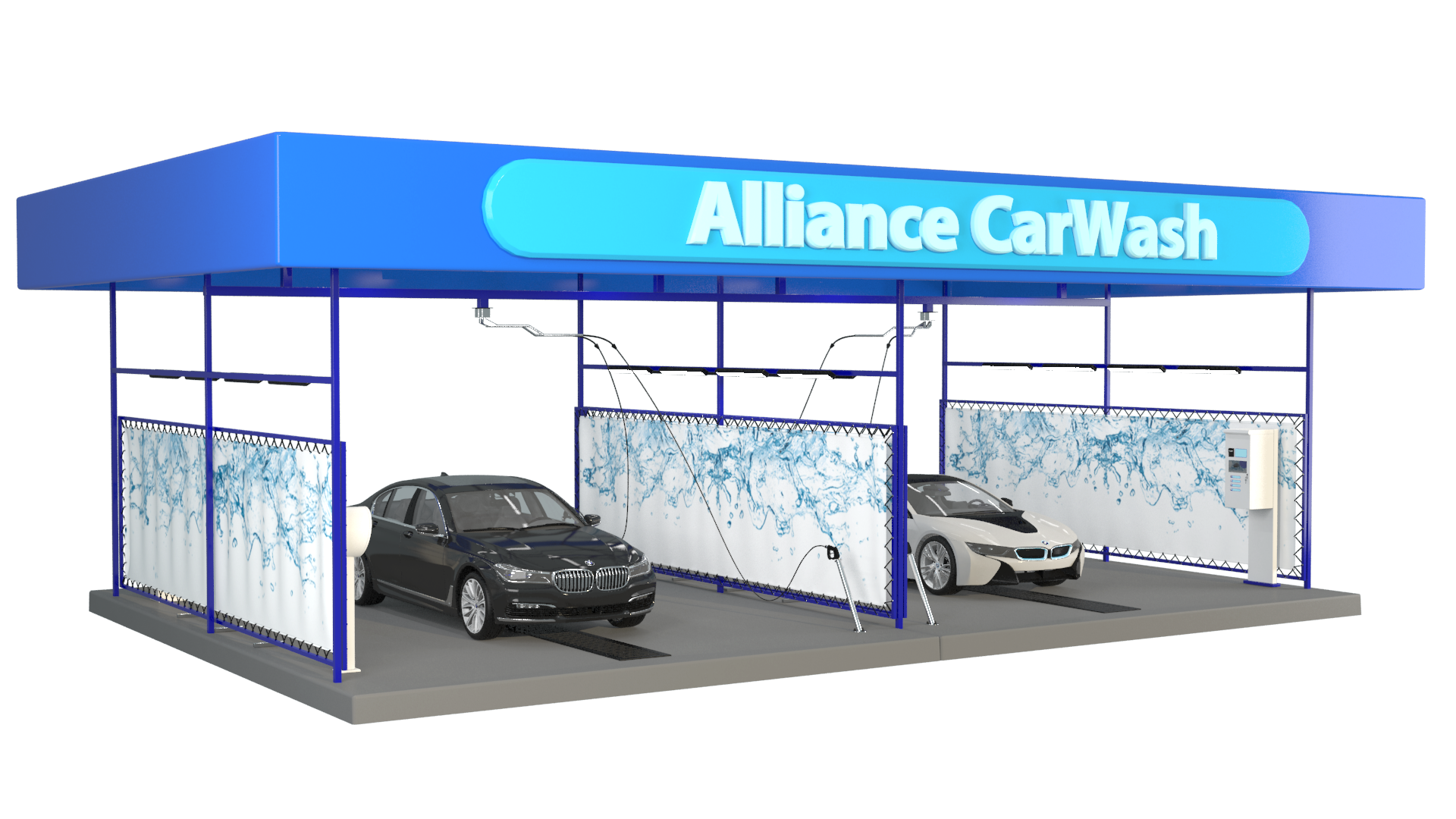 Metal Structures For Gas Stations And Car Washes